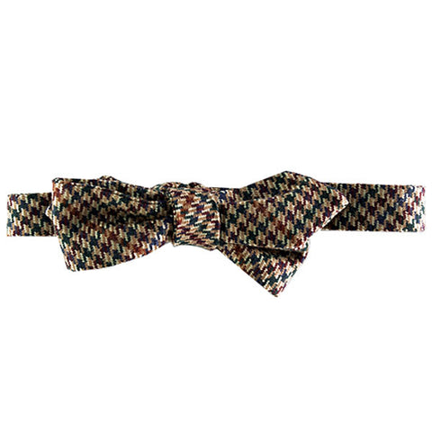Gold, green, and burgundy houndstooth Margo Petitti - Bow Tie