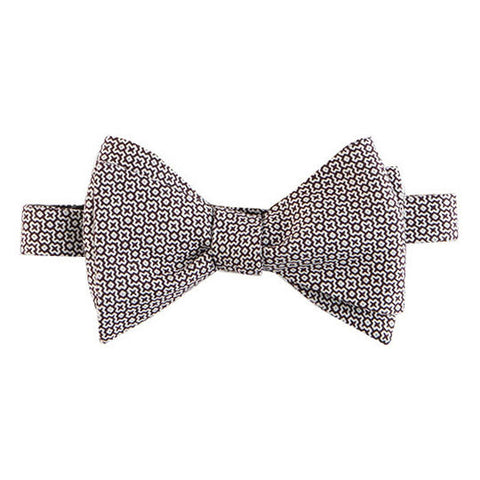 Butterfly wing brown and white Margo Petitti - Bow Tie