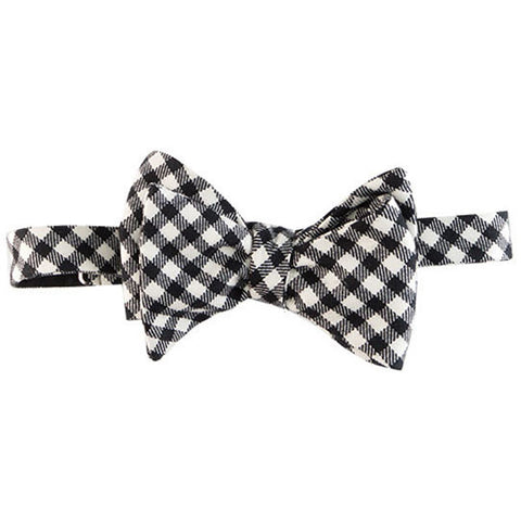 Butterfly wing black with white Margo Petitti - Bow Tie