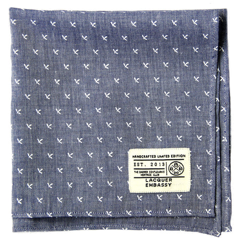 Lacquer Embassy Crossjack Handcrafted - Men's Pocket Square