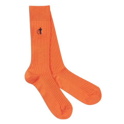 London Sock Co Simply Sartorial Curious Orange - Colourful Men's Socks