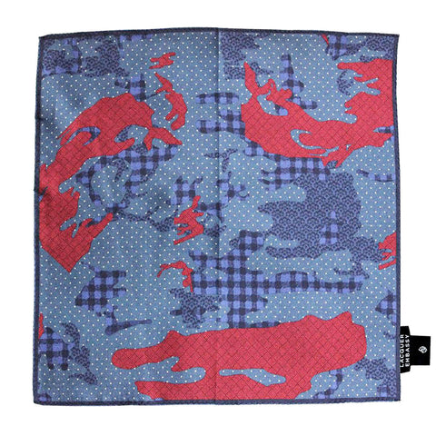 Lacquer Embassy English Camouflage Print - Trendy Pocket Square