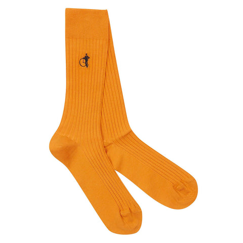 London Sock Co Simply Sartorial East India Saffron - Colourful Men's Socks
