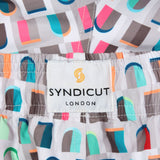 Syndicut London FAÇADE Printed Swim Shorts - Men's Designer Swim Trunks
