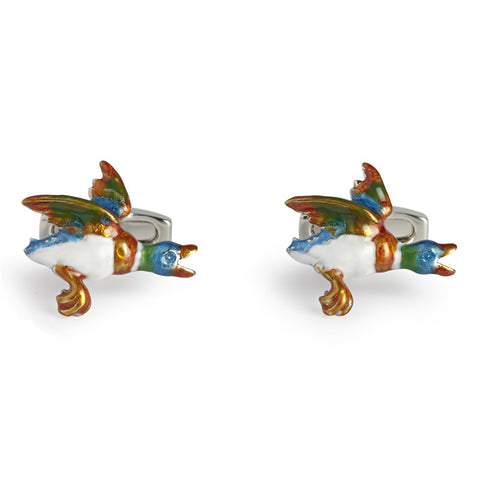 Simon Carter Flying Duck - Men's Designer Cufflinks - Eloquent District