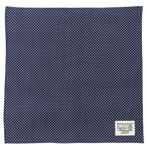 Lacquer Embassy Helmsman Nautical Geometric Pattern - Men's Pocket Square