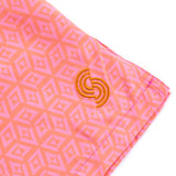 Pink Geo Print Syndicut London Honeycomb - Men's Swimwear