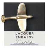 Lacquer Embassy Plane Metal Lapel Pin - Designer Lapel Pin - Eloquent District