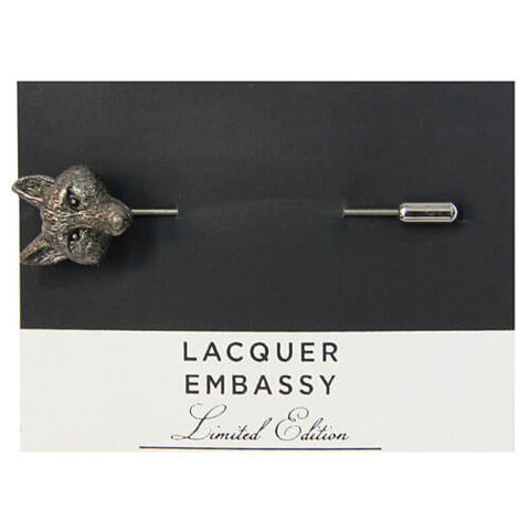 Lacquer Embassy Fox Metal Lapel Pin - Designer Lapel Pin - Eloquent District