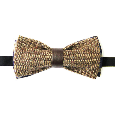 Brown tweed Lacquer Embassy Portland - Bow Tie