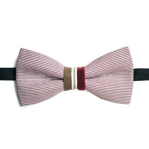 Red and white stripe Lacquer Embassy Belfort - Bow Tie