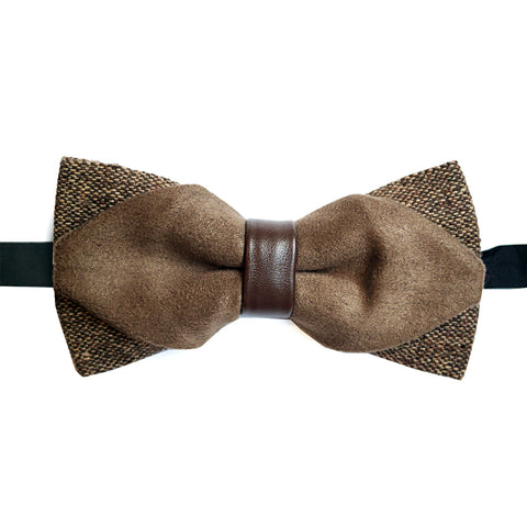 Brown Leather Lacquer Embassy Turin - Bow Tie