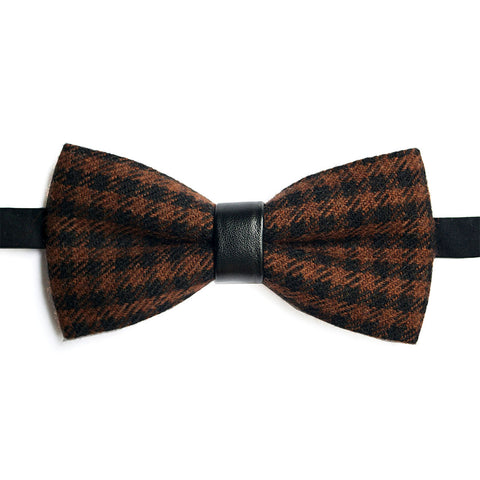 Brown and black check Lacquer Embassy Gassin - Bow Tie