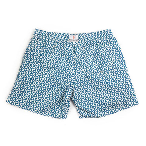 Syndicut London Mosaic Print Swim Shorts - Men's Designer Swim Trunks