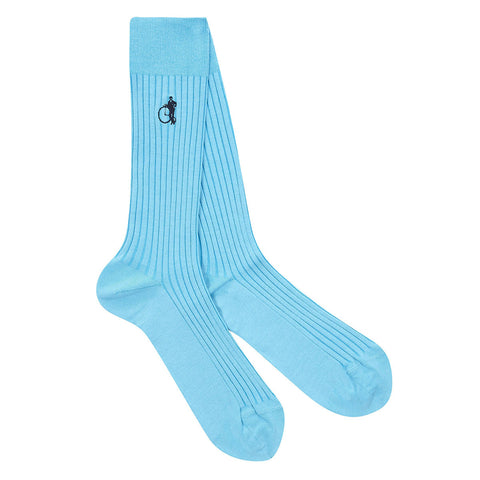 London Sock Co Sartorial Old Turquoise - Colourful Men's Socks