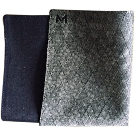 Margo Petitti Grey Argyle Lined - Men's Pocket Square