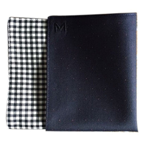 Margo Petitti Black and White Gingham Check - Men's Pocket Square