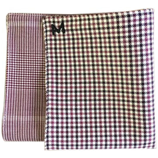 Margo Petitti Check Lined - Men's Pocket Square