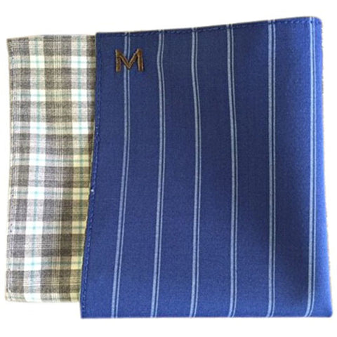 Margo Petitti Bright Blue Pinstripe - Men's Pocket Square