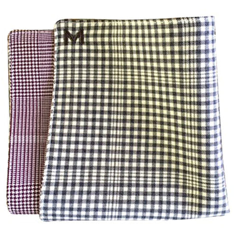 Margo Petitti White Glenplaid - Men's Pocket Square