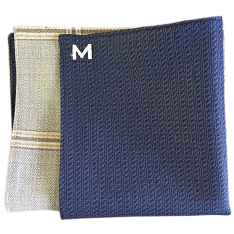 Margo Petitti Windowpane - Men's Pocket Square