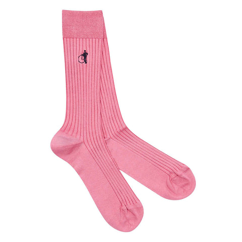 London Sock Co Simply Sartorial Pink Friday - Colourful Men's Socks