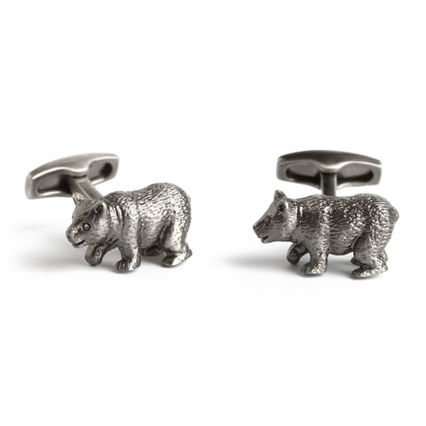 Lurching bear Simon Carter Pursuits - Bear - Men's Designer Cufflinks - Eloquent District