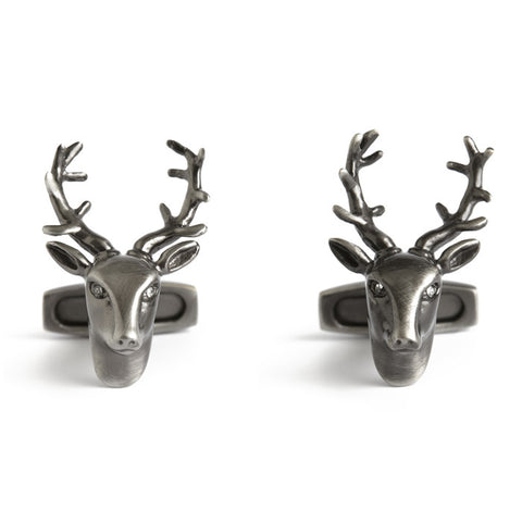 Simon Carter Pursuits - Stag Head - Men's Designer Cufflinks - Eloquent District
