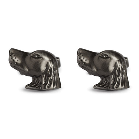 Simon Carter Pursuits - Hound Head - Men's Designer Cufflinks - Eloquent District