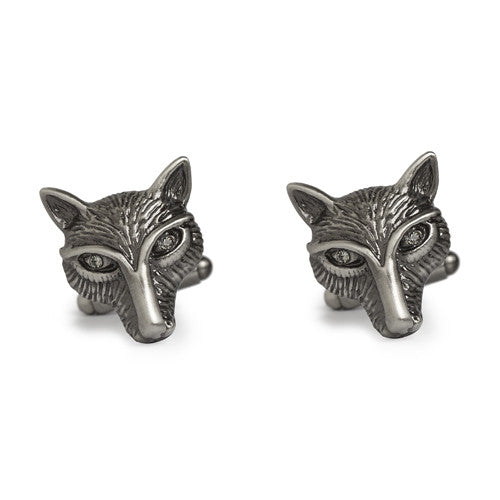 Simon Carter Pursuits - Fox Head - Men's Designer Cufflinks - Eloquent District