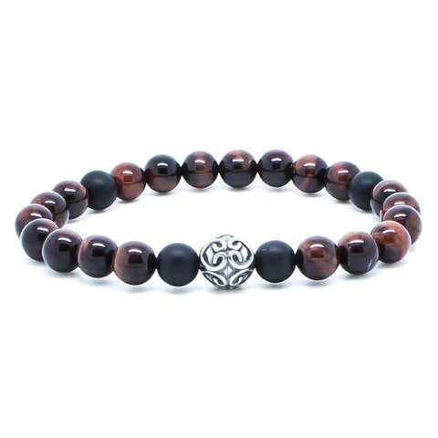 Handcrafted Chevalier Red Tiger - Men's Bracelet - Eloquent District