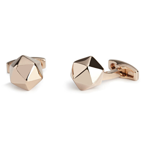 Simon Carter Buckminster Rose Gold - Men's Designer Cufflinks - Eloquent District