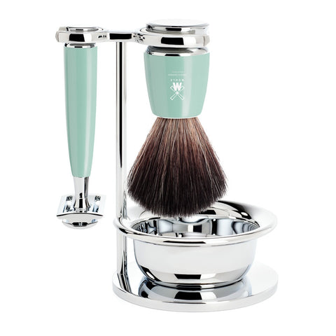 MÜHLE RYTMO - Shaving Set with Resin Mint Handle