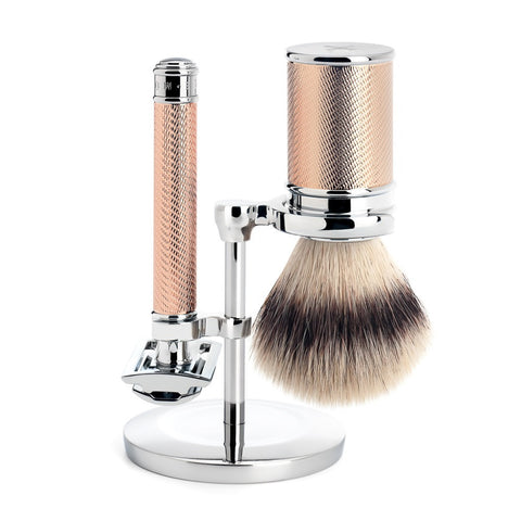 MÜHLE Traditional - Shaving Set with Silvertip Fibre® and Metal Rosegold Handle