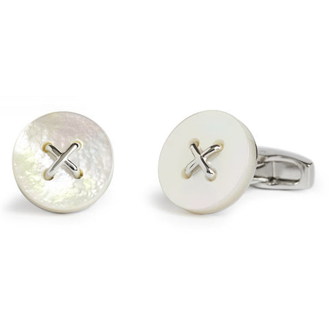Saville Row Button - MOP - Men's Luxury Cufflinks - Eloquent District