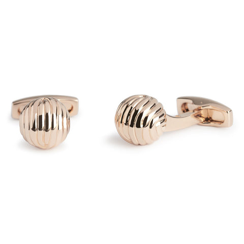 Textured Ball - Rose Gold - Men's Luxury Cufflinks - Eloquent District