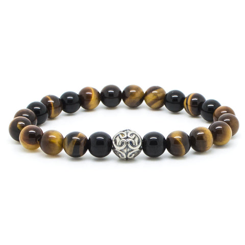 Handcrafted Chevalier Yellow Tiger - Men's Bracelet - Eloquent District