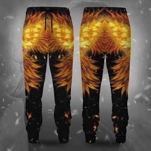 Dark Phoenix Flame Jogger Pants S