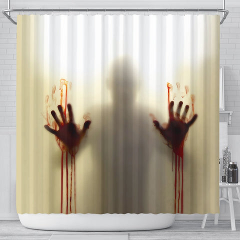 Bloody Zombie Shower Curtain