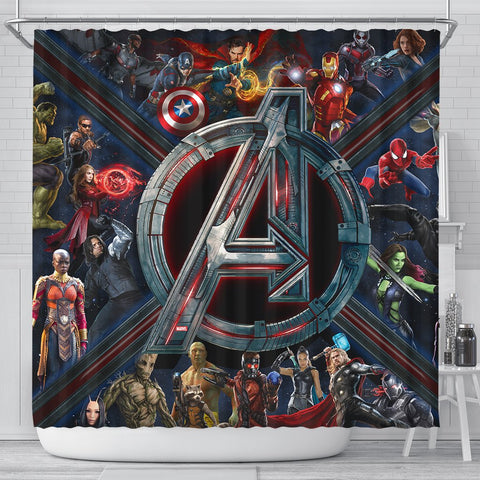 Mightiest Heroes Shower Curtain