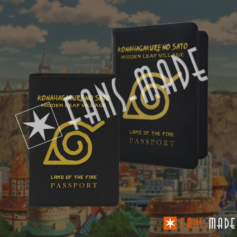 Konohagakure | Hidden Leaf Village Passport Cover Accessories