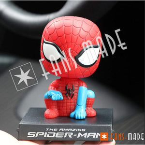 Superhero Head Shaking Car Doll Spidey Accessories
