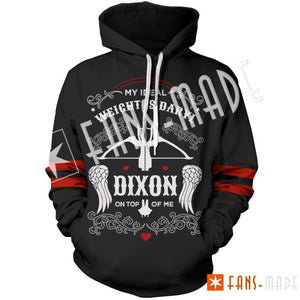 Twd My Ideal Weight Is Daryl Unisex Hoodie M