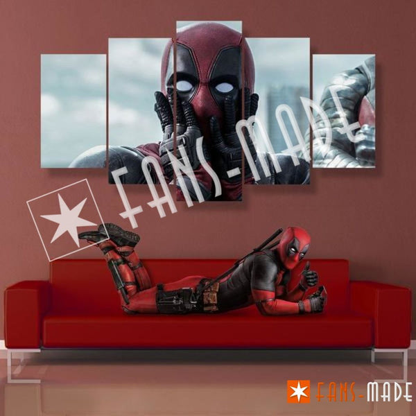 "Wall Canvas - ""AHHHH"" Deadpool 5 Piece Canvas"