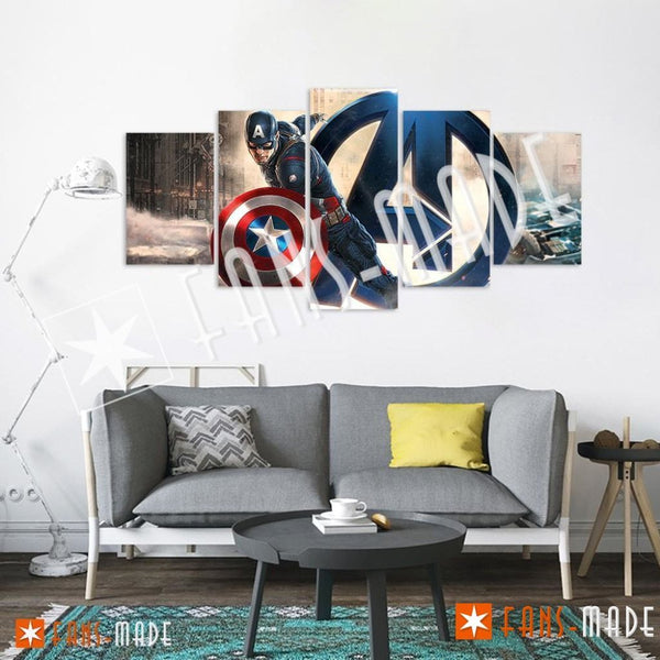 Wall Canvas - Cap The First Avenger 5 Piece Canvas