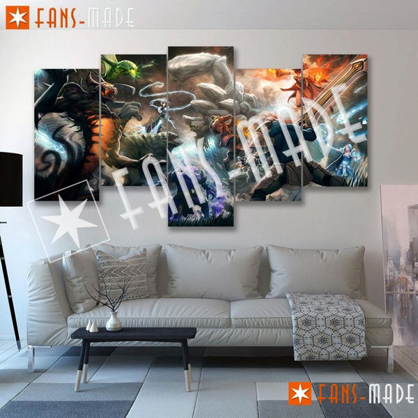 Wall Canvas - DOTA 2 Battle 5 Piece Canvas