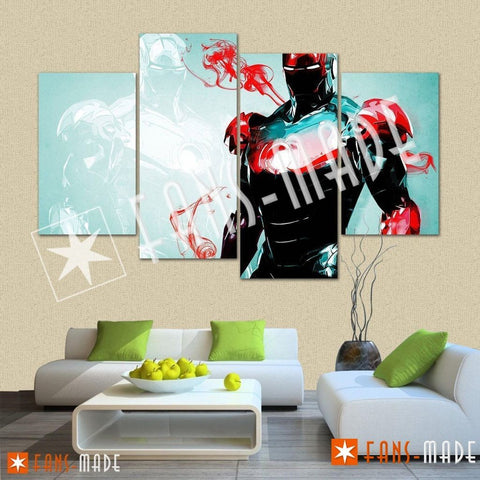Wall Canvas - Mark Of Iron 4 Piece Canvas