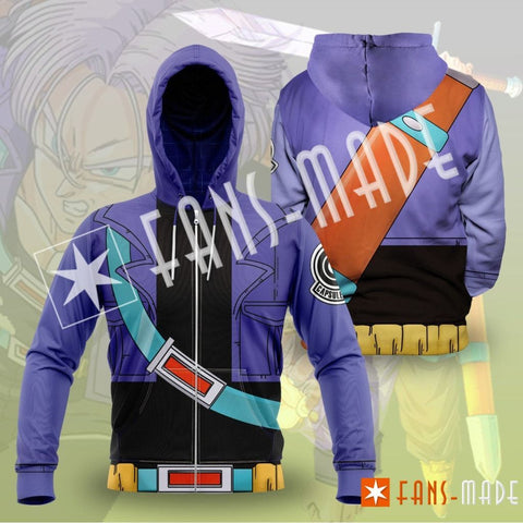 Future Trunks Unisex Zipped Hoodie S Zip