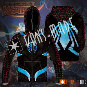 Secret War Spidey Unisex Zipped Hoodie S Zip