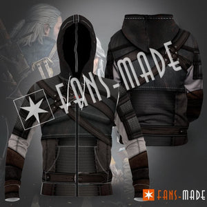 The Witcher Unisex Zipped Hoodie S Zip